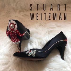 Unique STUART WEITZMAN Embellished Dog Love Shoes